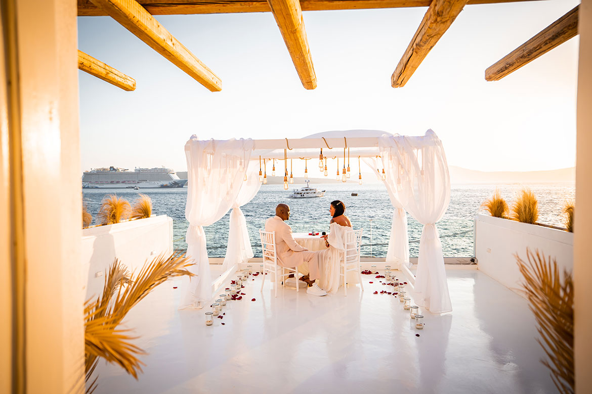 Santorini Proposals - Private Dinner Proposal Package